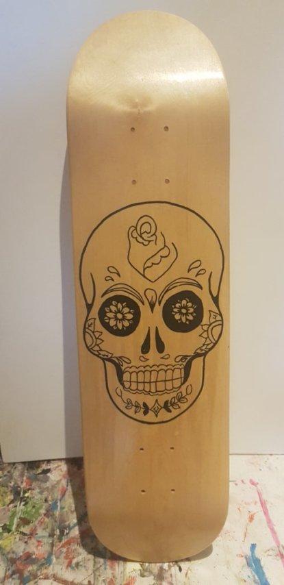 """Skull face 8"""" Canadian mapple  80€"""